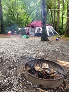 Tent camping at Table Rock State Park